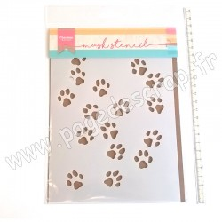MARIANNE DESIGN STENCIL MASK TINY'S CAT PAWS