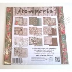 STAMPERIA ROSES & LACES 10 feuilles R/V 30.5 cm x 30.5 cm 170 gr