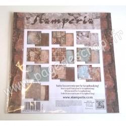 STAMPERIA CLOCKWISE 10 feuilles R/V 30.5 cm x 30.5 cm 170 gr