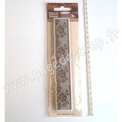 STAMPERIA TAMPON CAOUTCHOUC LACE WITH ROSE