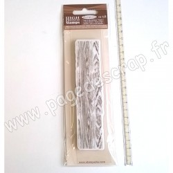 STAMPERIA TAMPON CAOUTCHOUC WOODEN EFFECT