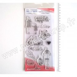 MPC402   CHOU & FLOWERS COLLECTION MON PETIT COTÉ FAMILLE TAMPONS CLEAR FAMILLE 2