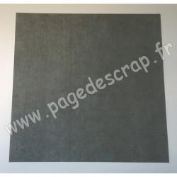 VINT40   CARDSTOCK VINTAGE GRIS FONCÉ 30.5 cm x 30.5 cm