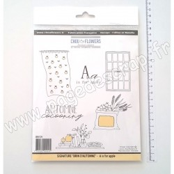 "CHOU & FLOWERS COLLECTION BRIN D'AUTOMNE TAMPON ""A IS FOR APPLE"""