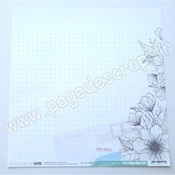 KAC1805   LES ATELIERS DE KARINE COLL. CARNET DE ROUTE  AIR MAIL 30.5 cm x 30.5 cm