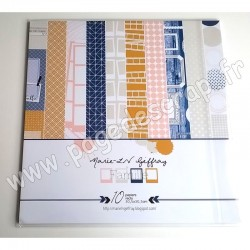 MARIE LN GEFFRAY COLLECTION FAMILLE 10 papiers recto 30.5 cm x 30.5 cm