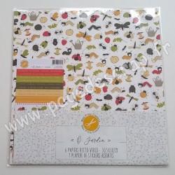 MES P'TITS CISEAUX O JARDIN 6 papiers R/V 30.5cm x 30.5cm 1 planche de stickers