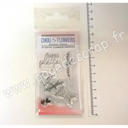 COU121   CHOU & FLOWERS COLLECTION COULEUR OCÉAN TAMPON CLEAR VAMOS A LA PLAYA