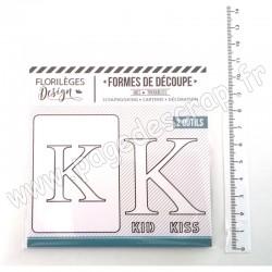 FDD220011   FLORILEGES DESIGN OUTILS DE DÉCOUPE À LA LETTRE K
