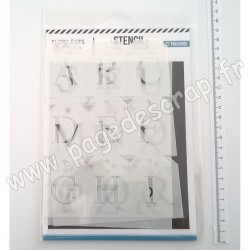 FDS220001   FLORILEGES DESIGN POCHOIRS ALPHABET