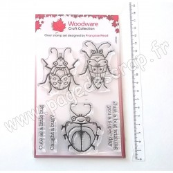 FRS817   CREATIVE EXPRESSIONS TAMPON CLEAR WOODWARE CUTE BUGS