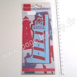 LR0661   MARIANNE DESIGN CREATABLES GET FOLDING DIE LIGHT HOUSE