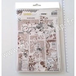 SA50020   CARABELLE STUDIO TAMPON COLLAGE DE JOURNAUX