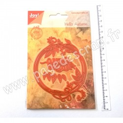 6002/1045   JOY!CRAFTS CUTTING & EMBOSSING DIES HELLO AUTUMN