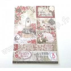 CBCL039   CIAO BELLA FROZEN ROSES 9 imprimés R/V A4 190g
