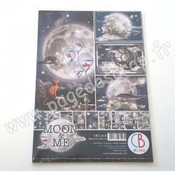 CBCL040   CIAO BELLA MOON & ME 9 imprimés R/V A4 190g