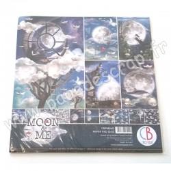 CBPM040   CIAO BELLA MOON & ME 12 imprimés R/V 30.5 cm x 30.5 cm 190g