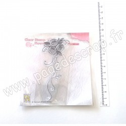 FLO020   NELLIE'S CHOICE TAMPONS CLEAR BOUQUET ROSES 1