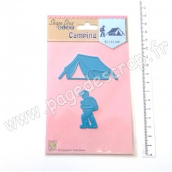 SDB047   NELLIE'S CHOICE SHAPE DIES BLUE CAMPING
