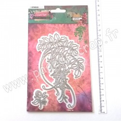 STENCILJL06   STUDIO LIGHT CUTTING & EMBOSSING DIES JUST LOU BOTANICAL COLLECTION Nr.06