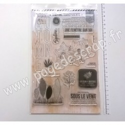 FDCL320003   FLORILEGES DESIGN TAMPONS CLEAR OR SAISON UN COIN DE NATURE