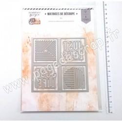 FDD320003   FLORILEGES DESIGN OR SAISON OUTILS DE DÉCOUPE QUATRE CASES