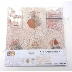 FDPC320016   FLORILEGES DESIGN KIT CALQUES OR SAISON 4 feuilles 30.5 cm x 30.5 cm