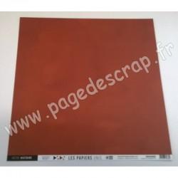 FDPU320002   FLORILEGES DESIGN  LES PAPIERS UNIS 22 TERRACOTTA 30.5 cm x 30.5 cm