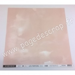 FDPU320004   FLORILEGES DESIGN  LES PAPIERS UNIS 24 ROSE CHAIR 30.5 cm x 30.5 cm