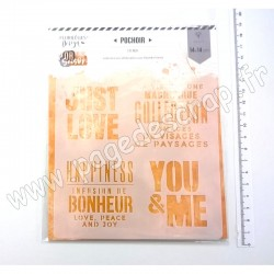 FDS320001   FLORILEGES DESIGN POCHOIR OR SAISON YOU & ME
