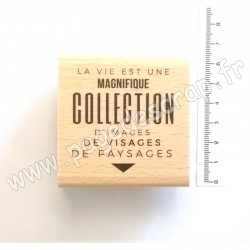 FE320009   FLORILEGES DESIGN COLLECTION OR SAISON TAMPON BOIS COLLECTION D'IMAGES