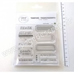 T0920-ET66   COMPTOIR DU SCRAP TAMPONS TRANSPARENTS TICKETS ET CIE