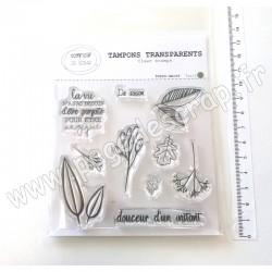 T0920-SA109   COMPTOIR DU SCRAP TAMPONS TRANSPARENTS DE SAISON