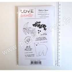 BGWIN01-TAMP   BÉATRICE GARNI ILLUSTRATION TAMPONS CLEAR LOVE WINTER 1