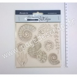 SCB12   STAMPERIA DECORATIVE CHIPS SHELLS 14cm x 14cm