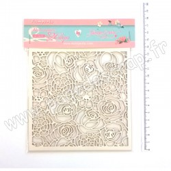 SCB35   STAMPERIA DECORATIVE CHIPS TEXTURE OF ROSES 14cm x 14cm