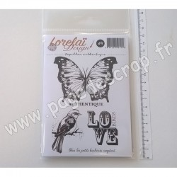 LORELAI DESIGN TAMPONS CLEAR COLLECTION ESPRIT BUCOLIQUE 4  PAPILLON AUTHENTIQUE