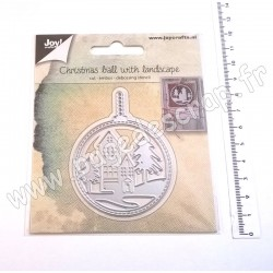 6002/1347   JOY!CRAFTS DIES CUTTING & EMBOSSING CHRISTMAS BALLWITH LANDSCAPE