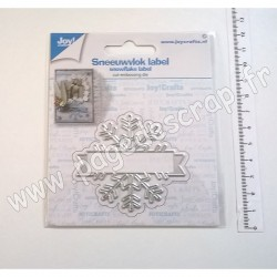 6002/1532   JOY!CRAFTS DIES CUTTING & EMBOSSING SNOWFLAKE LABEL