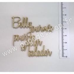 PDS SUJET BOIS FIN 1 mm BELLE JOURNÉE POUR ALLER SE BALADER
