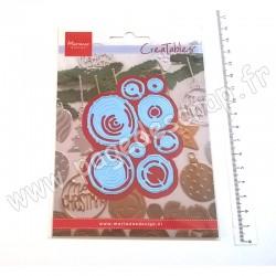 LR0684   MARIANNE DESIGN CREATABLES COUPE EMBOSSE TRANCHES DE BOIS
