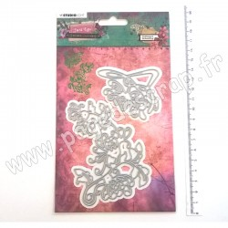 STENCILJL07   STUDIO LIGHT CUTTING & EMBOSSING DIES JUST LOU BOTANICAL COLLECTION nr.07