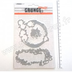 STENCILSL152   STUDIO LIGHT CUTTING & EMBOSSING DIES GRUNGE nr.152