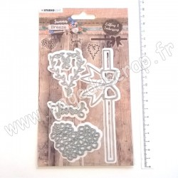 STENCILSUB286   STUDIO LIGHT CUTTING & EMBOSSING DIES SUMMER BREEZE nr.286