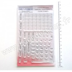 COT134   CHOU & FLOWERS COLLECTION ESPRIT COTTAGE TAMPONS CLEAR CALENDRIER PERPÉTUEL