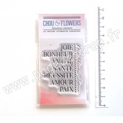 COT139   CHOU & FLOWERS COLLECTION ESPRIT COTTAGE TAMPONS CLEAR PAIX