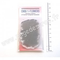 COT140   CHOU & FLOWERS COLLECTION ESPRIT COTTAGE TAMPONS CLEAR FOND ALVÉOLES