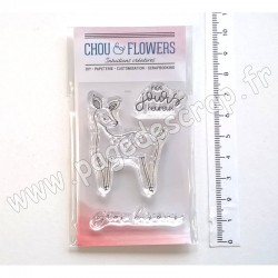 COT143   CHOU & FLOWERS COLLECTION ESPRIT COTTAGE TAMPONS CLEAR MINI BICHE
