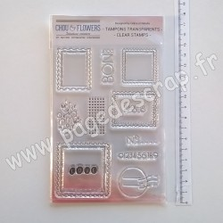 COT132   CHOU & FLOWERS COLLECTION ESPRIT COTTAGE TAMPONS CLEAR LES TIMBRES