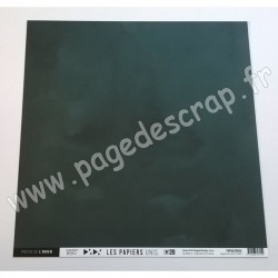 FDPU420004   FLORILEGES DESIGN  LES PAPIERS UNIS 29 VERT FORÊT 30.5 cm x 30.5 cm